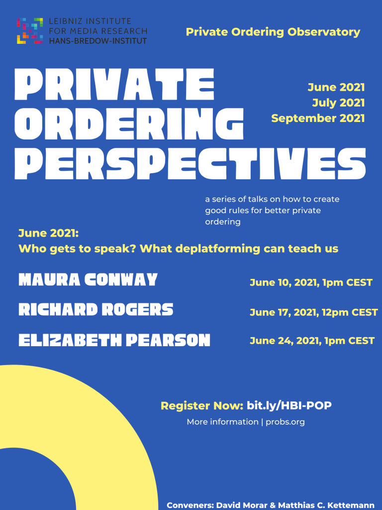 Private Ordering Perspectives (2)